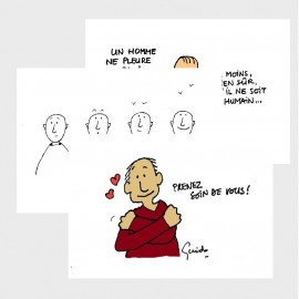 "3 cartes ""Fraternité"" + enveloppes"